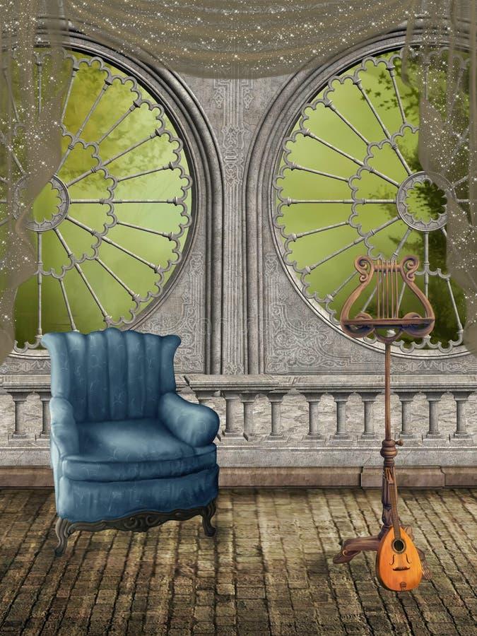 Quarto da fantasia ilustração royalty free