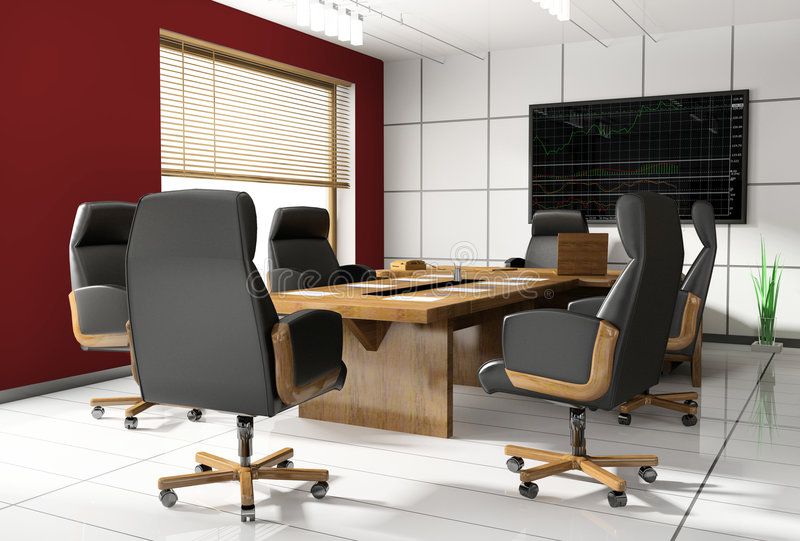 Quarto da negociação no escritório ilustração stock
