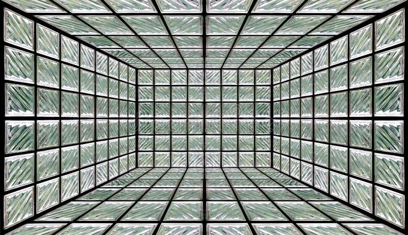 Quarto da parede do bloco de vidro ilustração do vetor