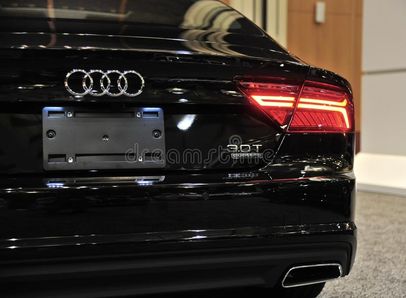 Quarto da parte traseira de Audi Quattro Exotic Sports Car imagem de stock