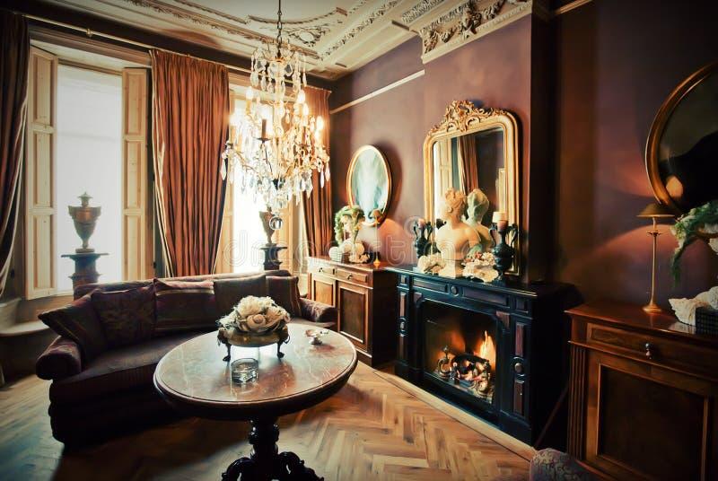 Quarto da sala de estar do hotel imagem de stock royalty free