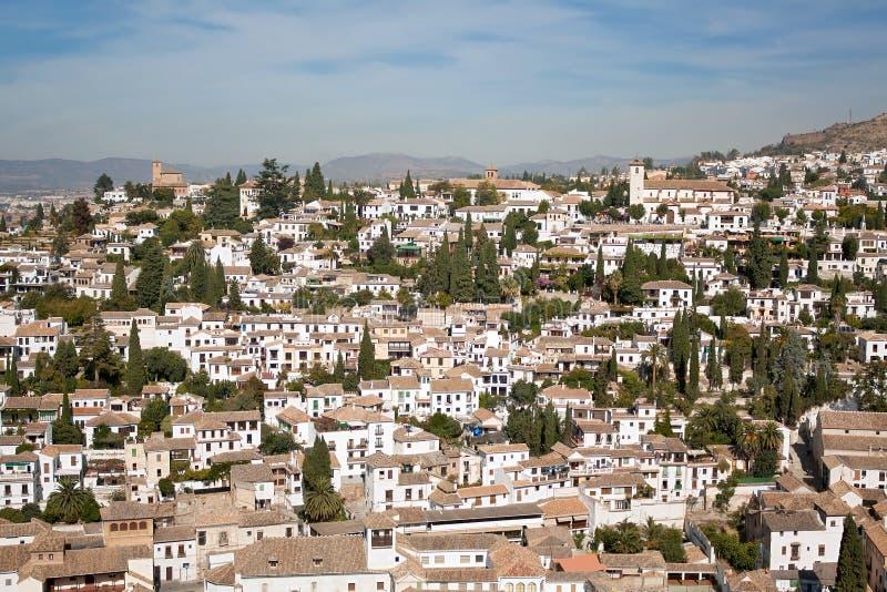 Quarto de Albaycin em Granada fotos de stock