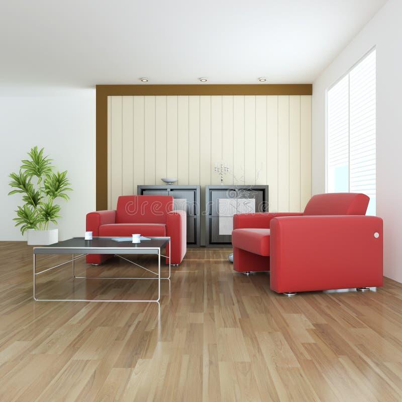 Quarto de assento contemporâneo interno foto de stock royalty free