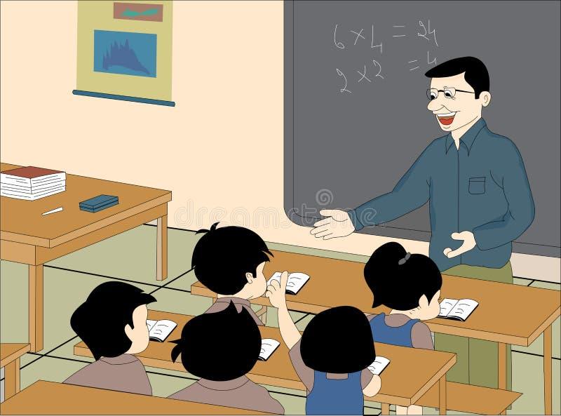 Quarto de classe ilustração royalty free