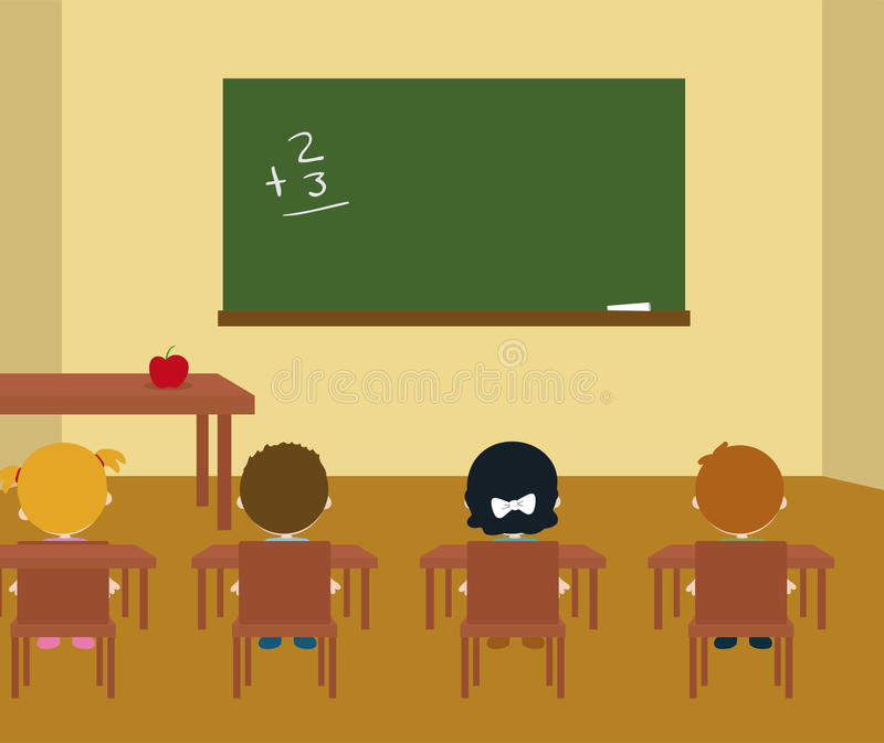 Quarto de classe ilustração stock