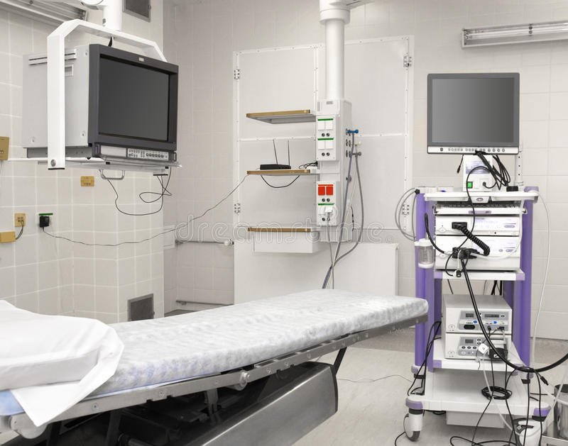 Quarto de funcionamento do hospital imagem de stock