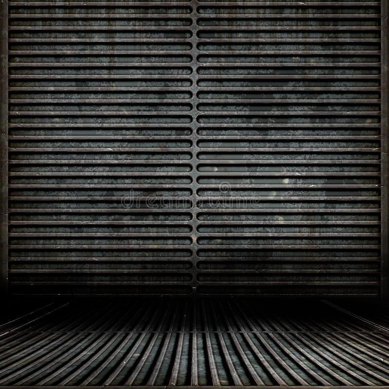 Quarto de Grunge do metal ilustração do vetor