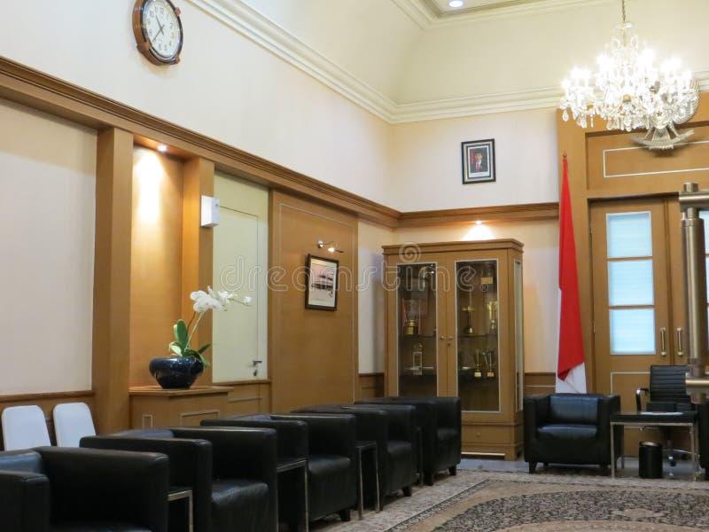Quarto de hóspedes na câmara municipal de Jakarta fotografia de stock