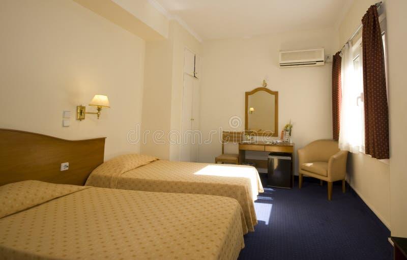 Quarto de hotel Atenas imagem de stock