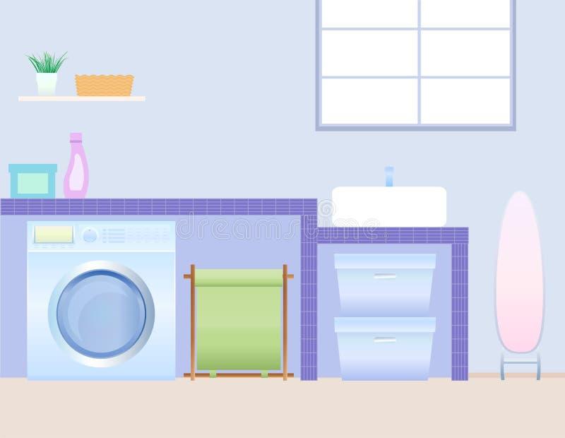 Quarto de lavanderia ilustração do vetor
