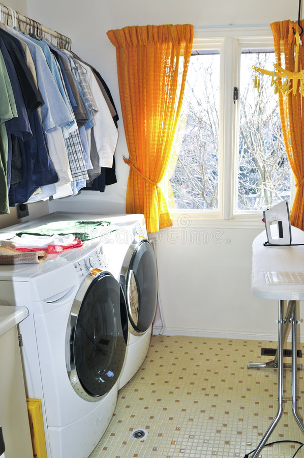 Quarto de lavanderia foto de stock royalty free