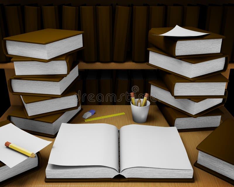 Quarto de leitura ilustração stock