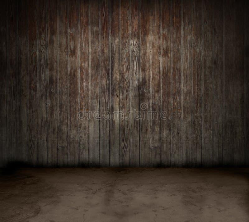 Quarto de madeira ilustração do vetor
