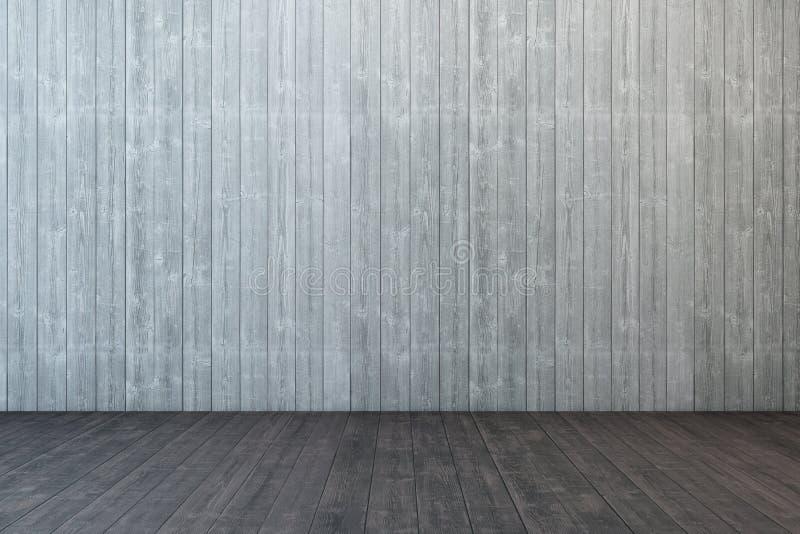 Quarto de madeira vazio ilustração do vetor