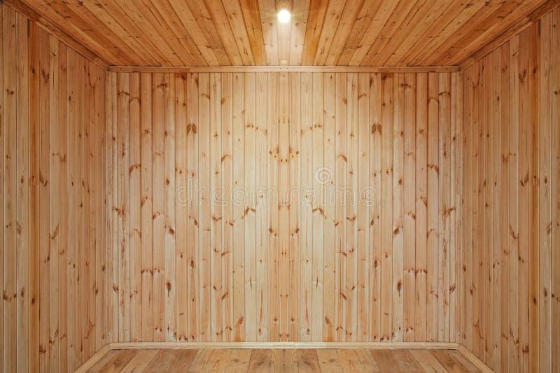 Quarto de madeira vazio fotos de stock
