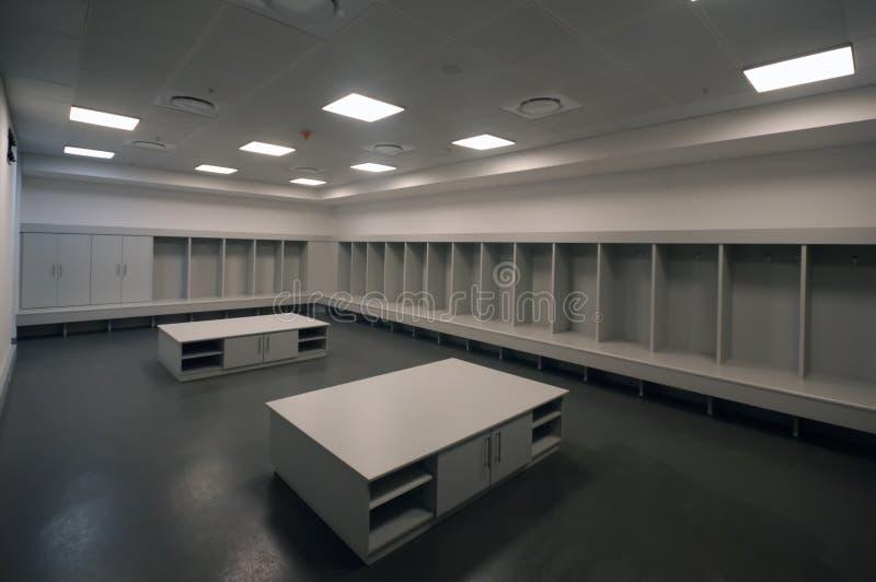 Quarto de mudança do estádio da cidade do futebol, Joanesburgo imagens de stock