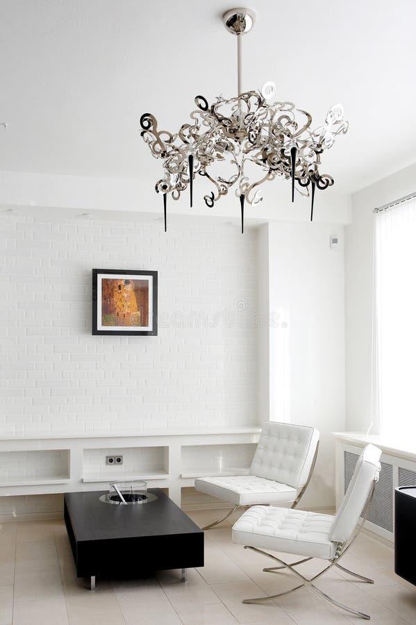 Quarto de reunião com mobília de couro imagens de stock royalty free