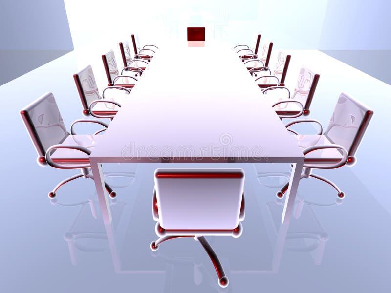 Quarto de reunião futurista 1 ilustração stock
