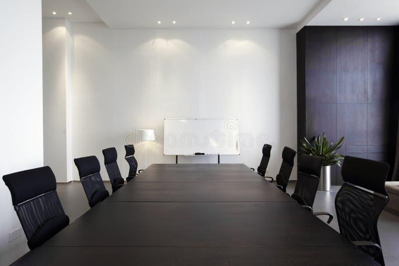 Quarto de reunião moderno vazio fotos de stock