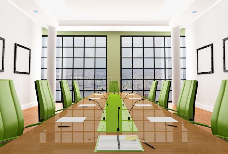 Quarto de reunião verde ilustração royalty free