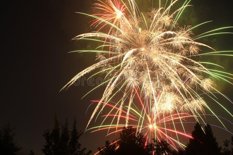 quarto dei fuochi d'artificio di luglio in Eagle Point, Oregon immagini stock