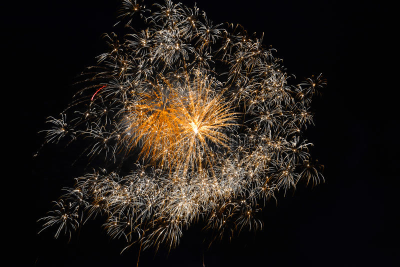 quarto del fuoco d'artificio di luglio fotografia stock libera da diritti