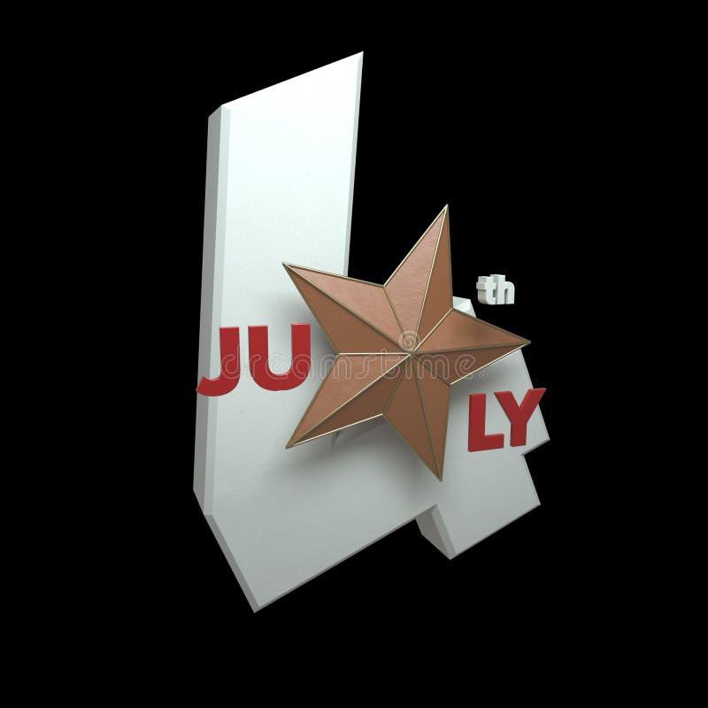 Quarto del 3 luglio D - renda - isolamento fotografie stock libere da diritti