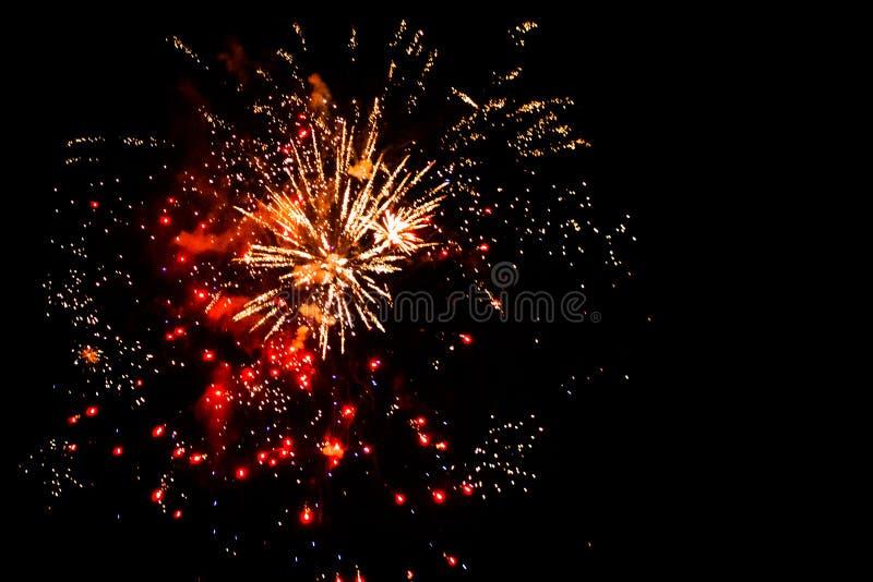 quarto dell'esposizione del fuoco d'artificio di luglio a Grand Rapids Michigan immagine stock libera da diritti