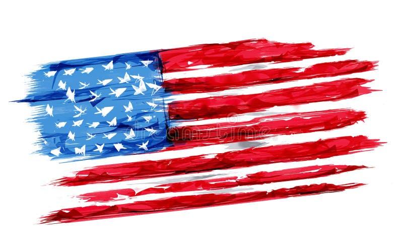Quarto della festa dell'indipendenza felice America di luglio illustrazione vettoriale