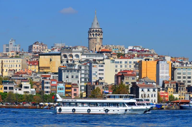 Quarto di Galata Karakoy di Costantinopoli fotografie stock