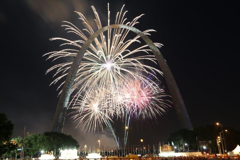 Quarto di luglio a St. Louis, Missouri fotografie stock