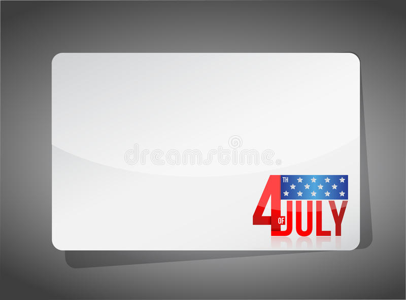 Quarto di progettazione dell'illustrazione del modello di luglio illustrazione di stock