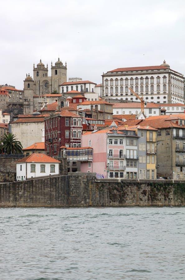 Quarto di Ribeira in città portoghese di Oporto fotografia stock