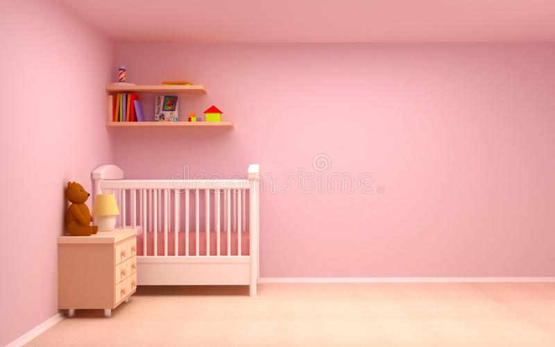 Quarto do bebê ilustração stock