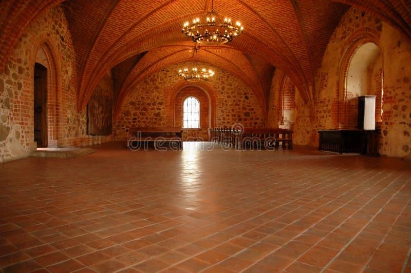 Quarto do castelo de Medival imagem de stock