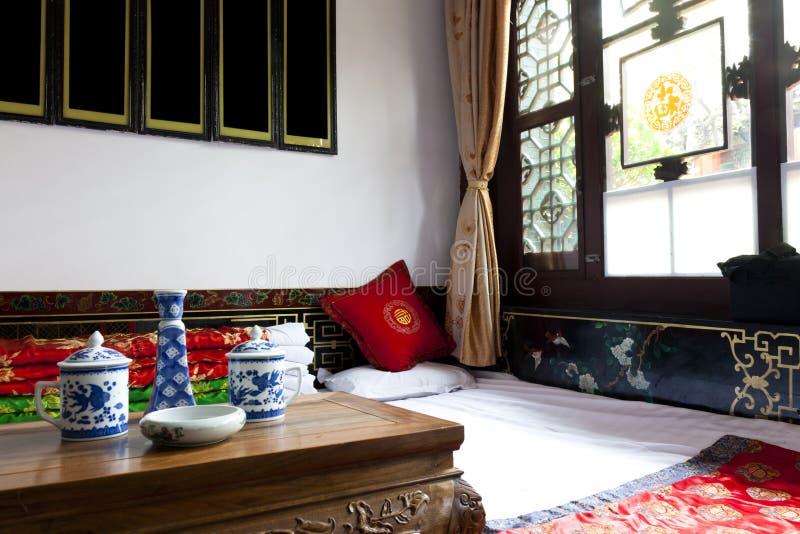 Quarto do chinês tradicional fotografia de stock