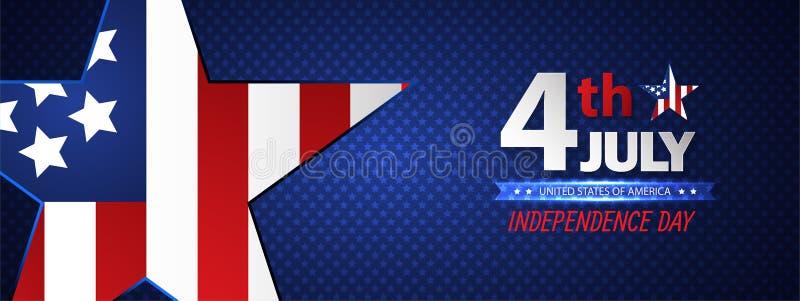 Quarto do Dia da Independência de julho abstraia o fundo Vetor ilustração royalty free