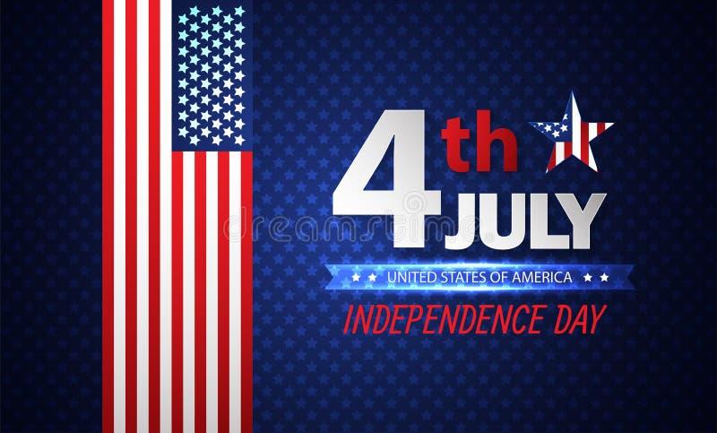 Quarto do Dia da Independência de julho abstraia o fundo Vetor ilustração do vetor