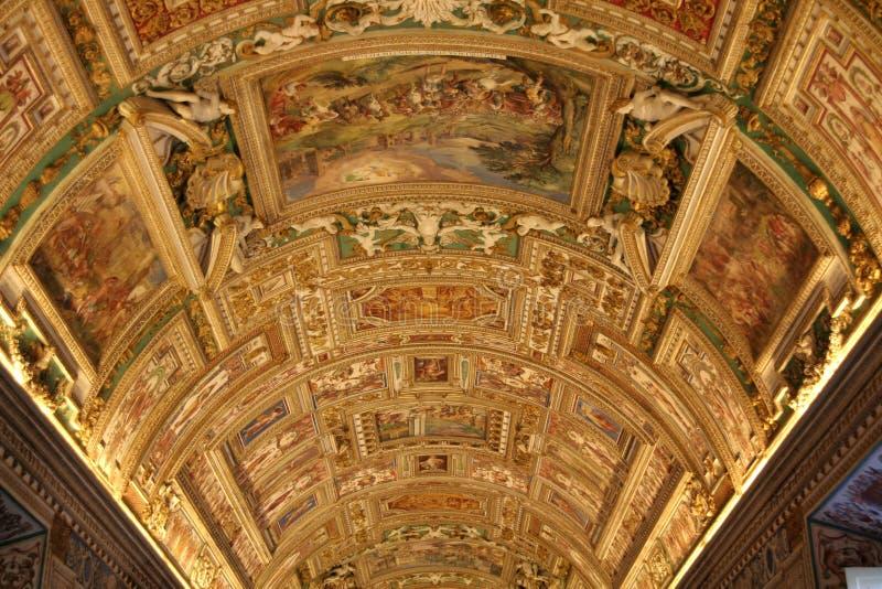 Quarto do mapa da capela de Sistine imagem de stock