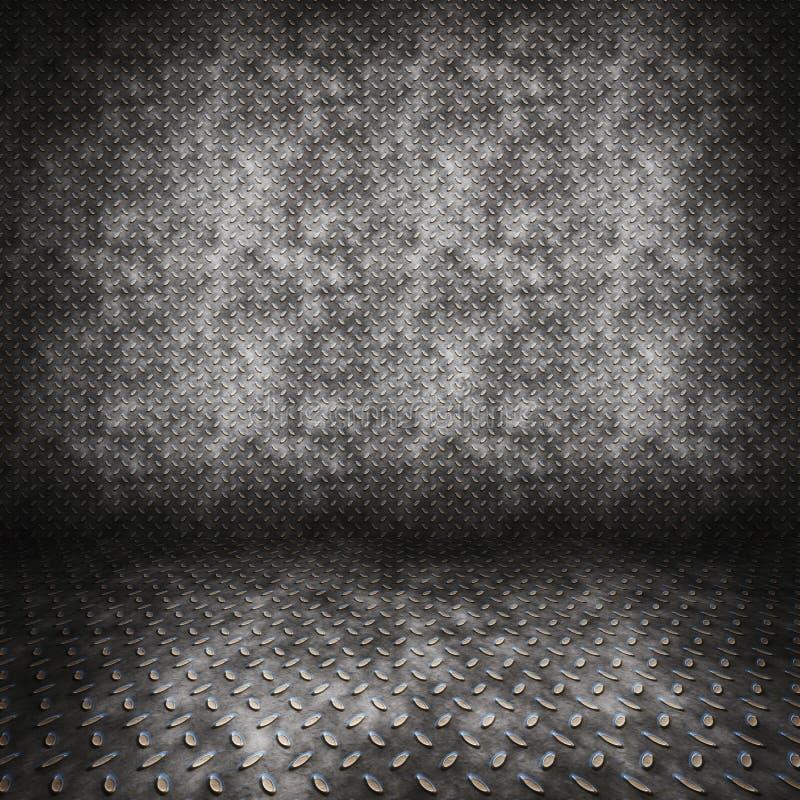 Quarto do metal da placa do diamante imagem de stock
