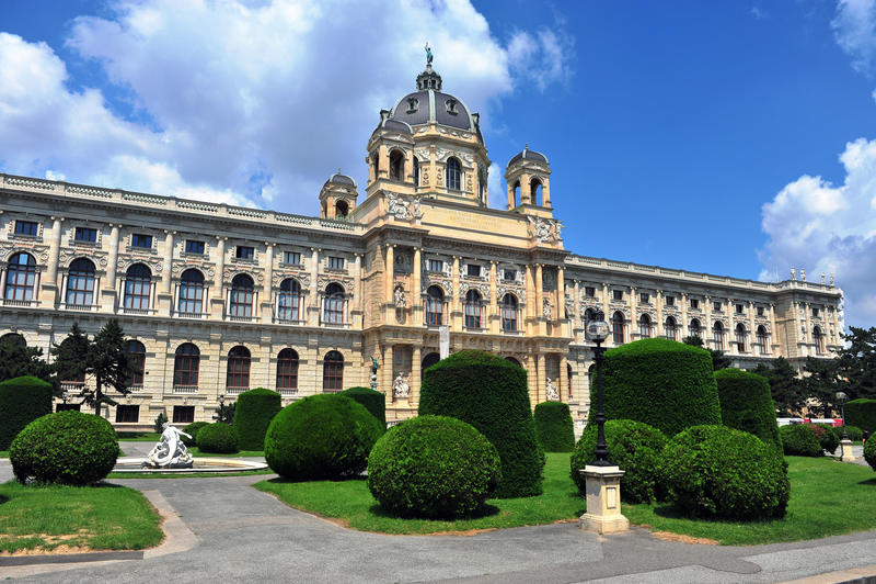 Quarto do museu e parque da cidade de Viena imagem de stock