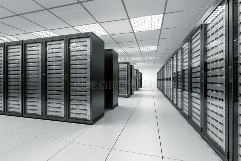 Quarto do server ilustração do vetor