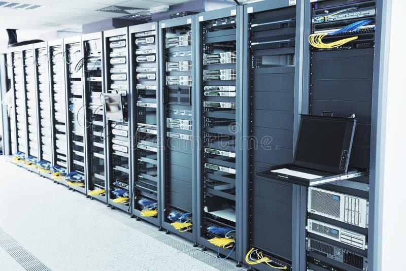 Quarto do server de rede foto de stock