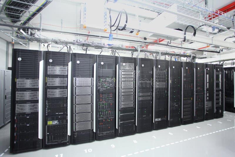 Quarto do server de rede fotografia de stock