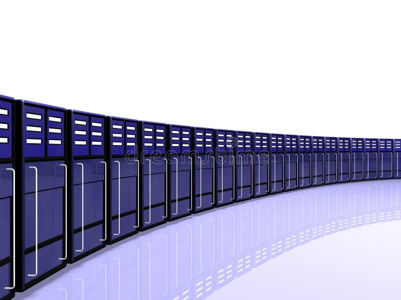 Quarto do server do computador ilustração do vetor