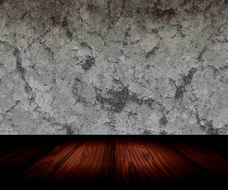 Quarto e parede de pedra ilustração do vetor