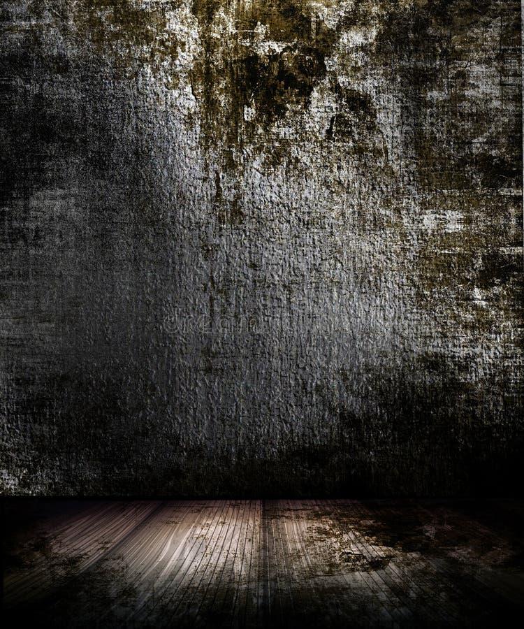 Quarto escuro de Grunge ilustração stock