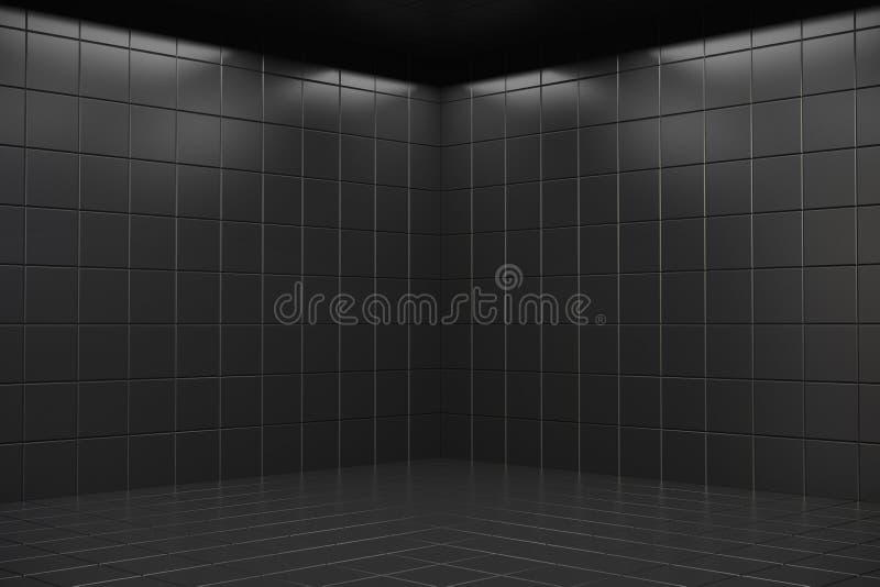 Quarto escuro vazio ilustração royalty free