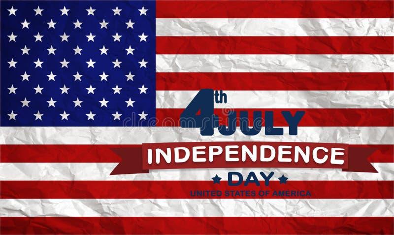 Quarto feliz da bandeira de julho EUA - imagem foto de stock