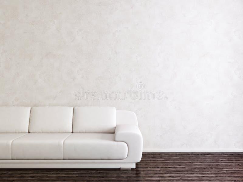 Quarto interior branco moderno ilustração do vetor